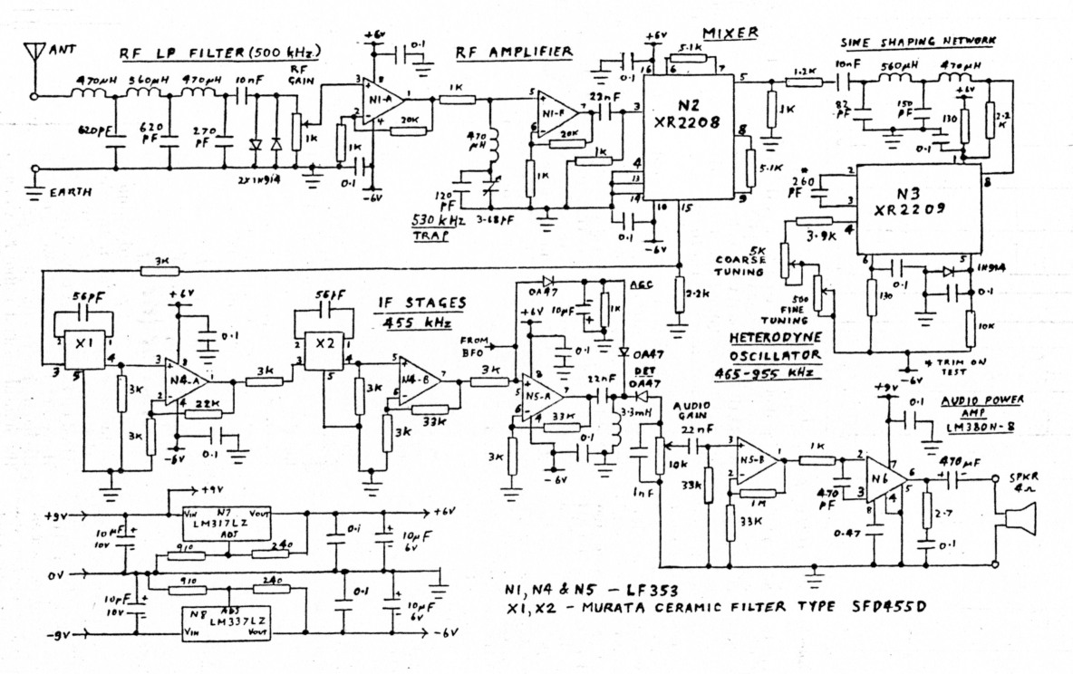 A Vlf Lf Receiver 10khz To 500 Khz With Resistance Tuning Dual Op Amp Circuit Diagram Amplifiercircuit Fig 1
