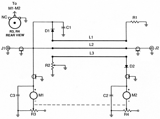 how to build a simple swr bridge1 schematic diagram of the simple swr bridge