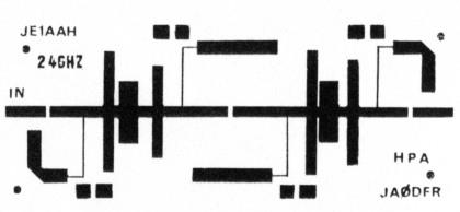 GaAs-FET power amplifier for 13 cm