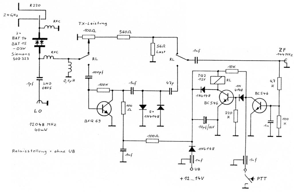 Simple Transverter for 24GHz