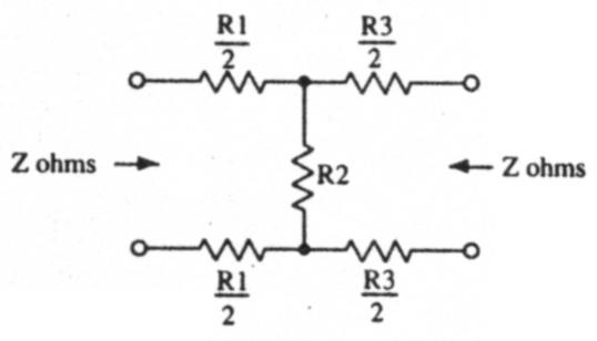 designing passive attenuator networks