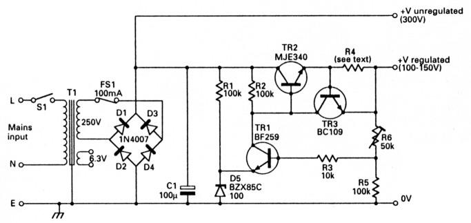 high voltage regulated psu