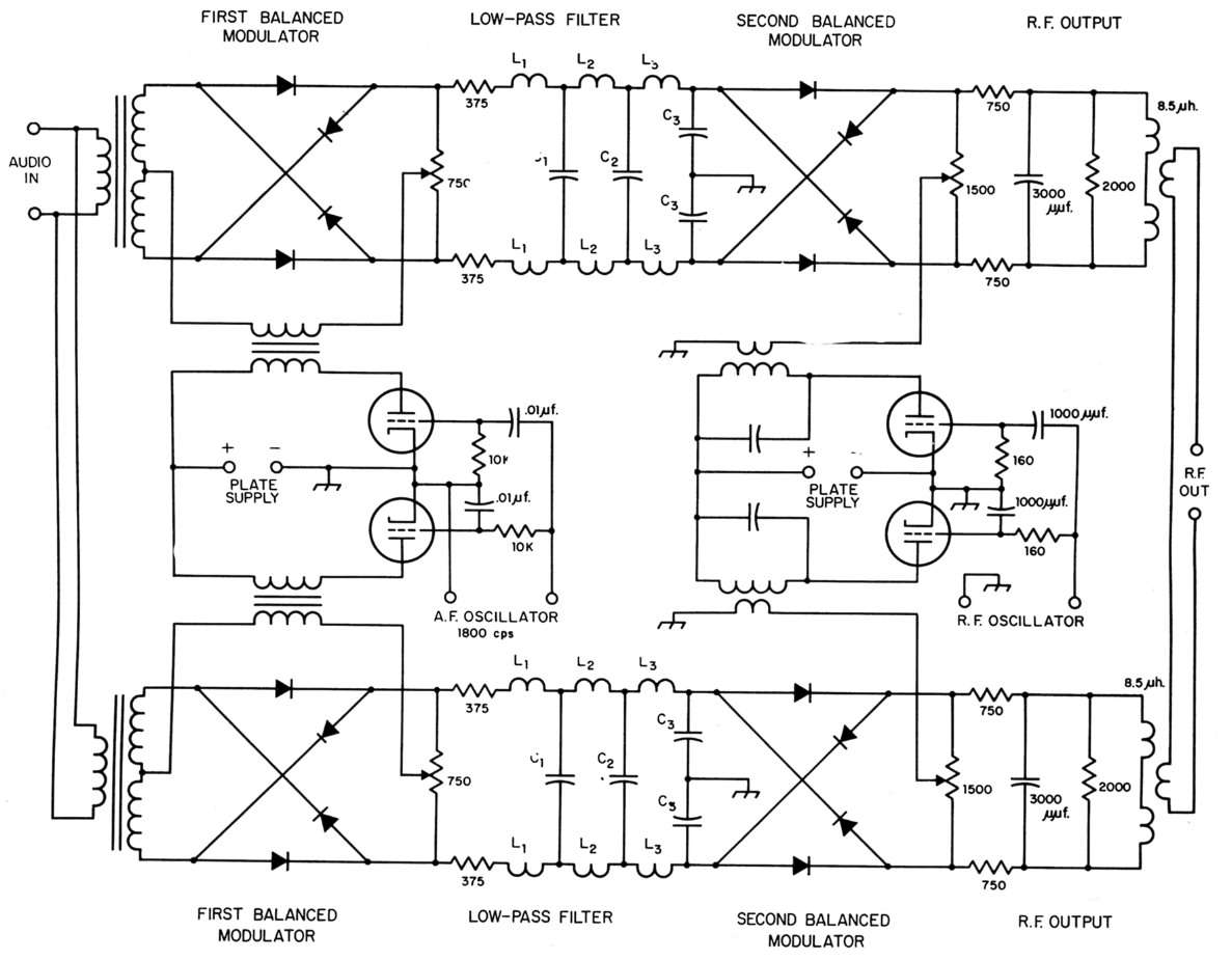 The Third Method Of Ssb Low Pass Audio Filter Circuit Single Side Band Generator Weaver Proc Ire December 1956 Constants Output Circuits Second Balanced Modulators
