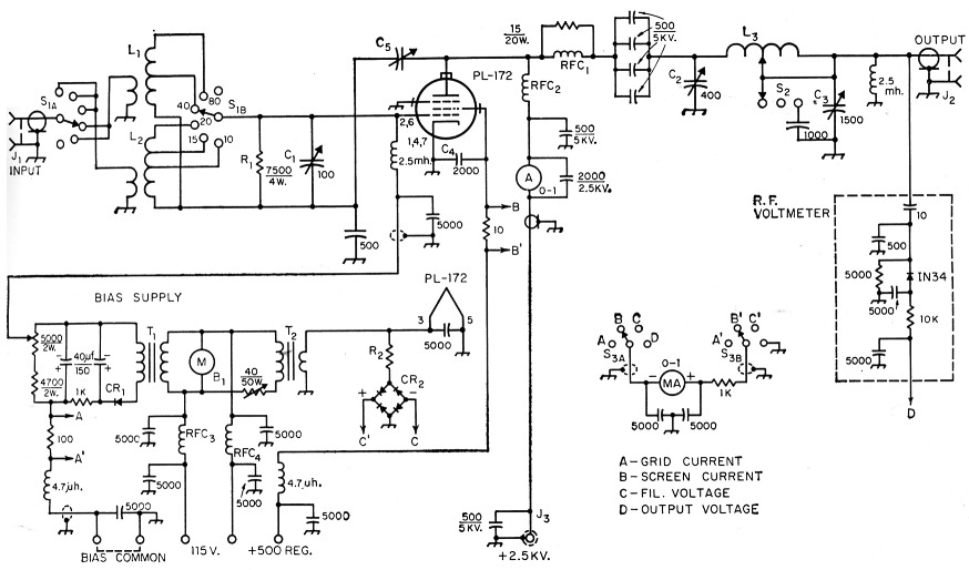 5000 watts amplifier schematic diagrams two linear amplifiers  two linear amplifiers