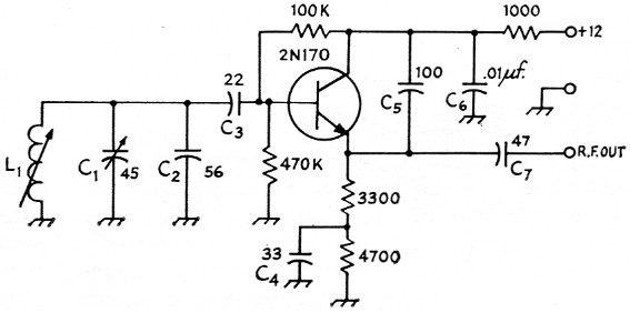 Transistor V F O  with linear tuning