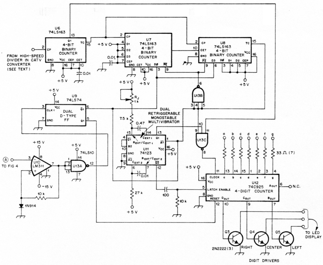 electronic counter diagram