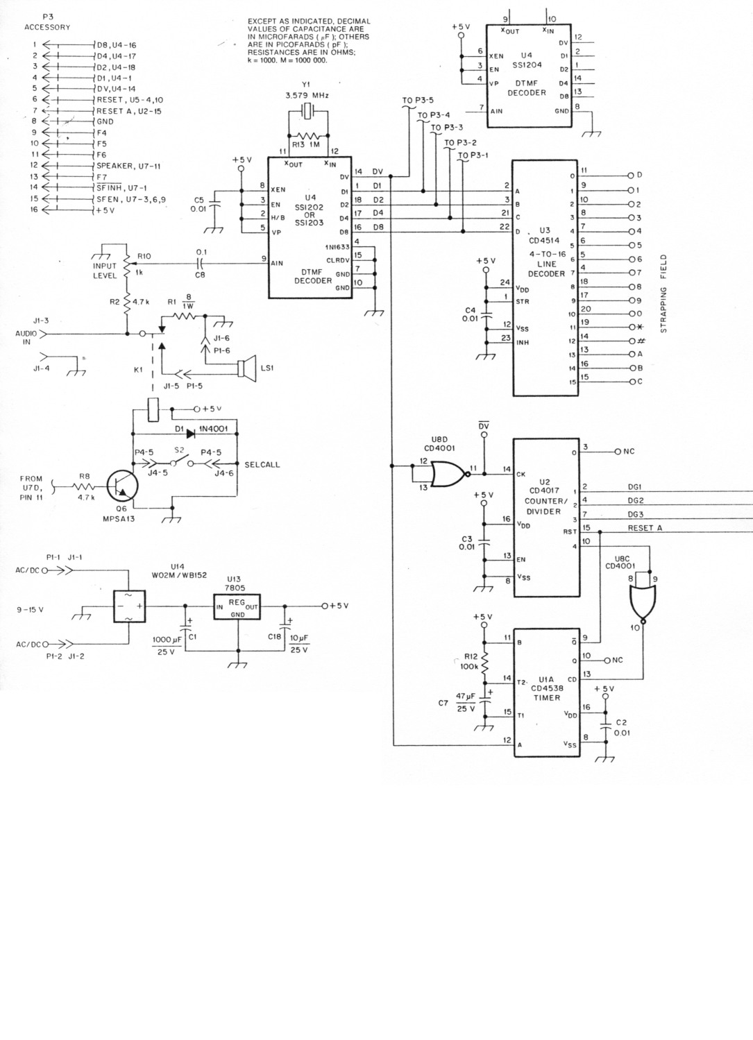 Professional Quality Dtmf Decoder And Selcall System Based Load Control Circuit Diagram Fig 1a 1b