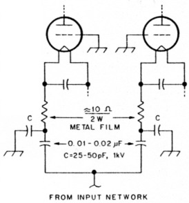 Improved anode parasitic suppression for modern amplifier tubes