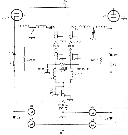 An improved input circuit for parallel-tube VHF power amplifiers on