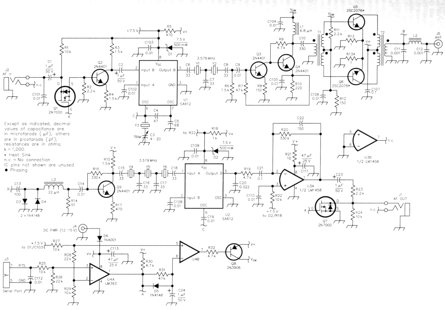 The Warbler A Simple Psk31 Transceiver For 80 Meters Fig 1 Bfo Metal Detector Schematic Diagram