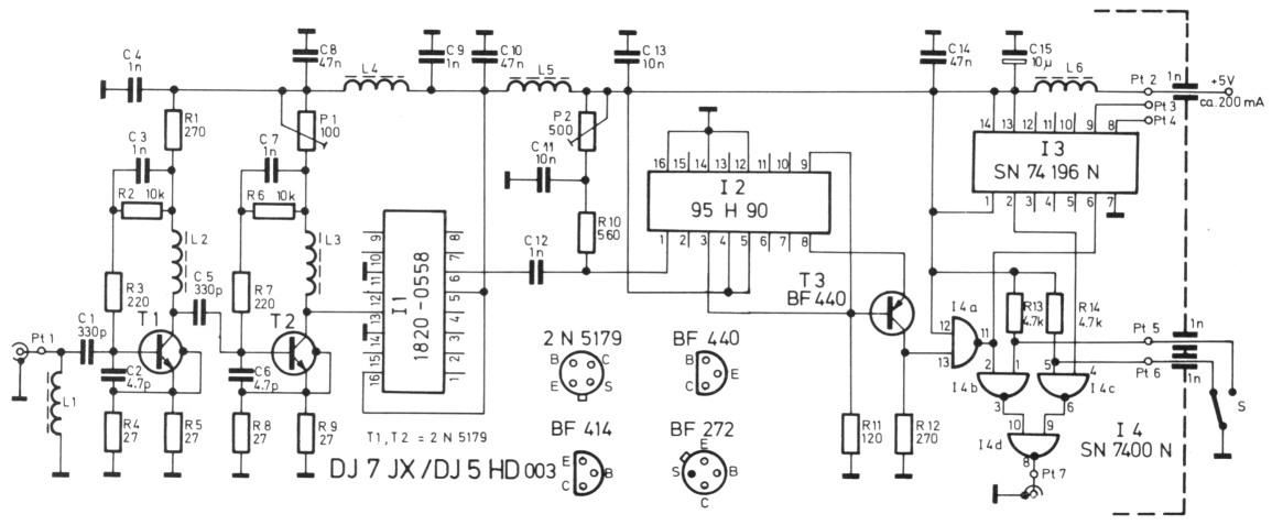 Frequenzzähler schaltung